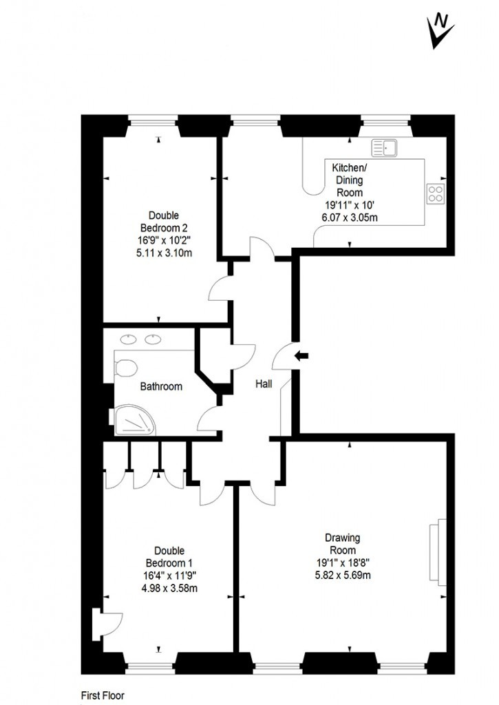 Edinburgh Apartment floor plan