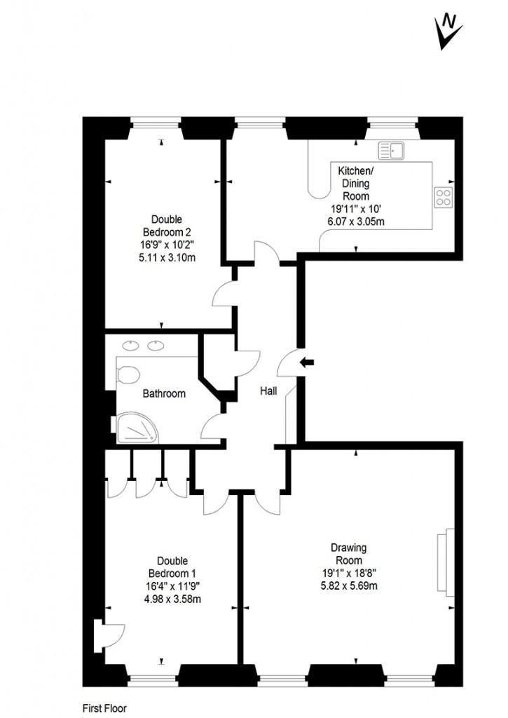 Our edinburgh apartment in georgian new town elegant for Apartment plans uk
