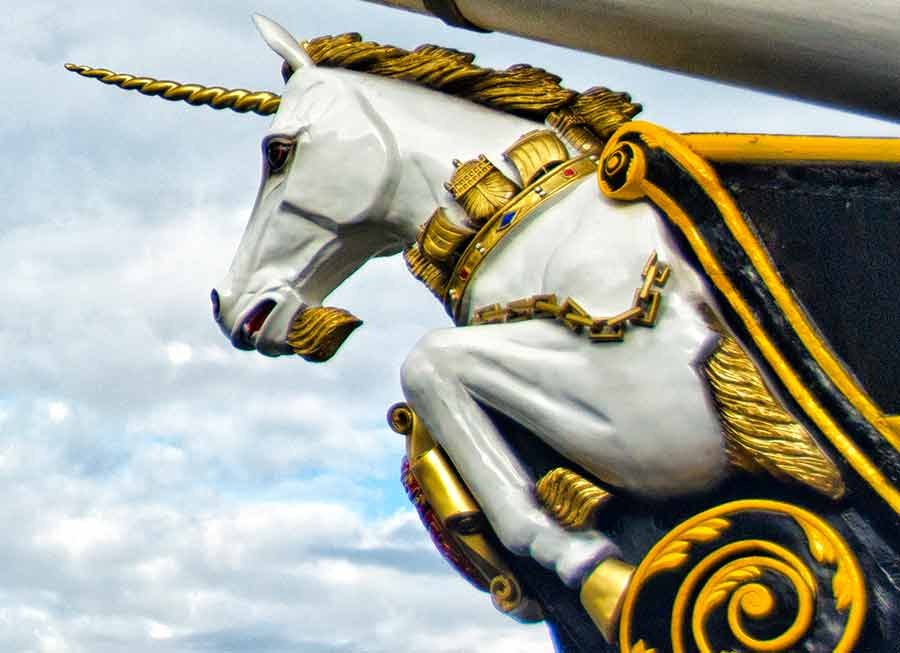 Unicorn figurehead ship Dundee