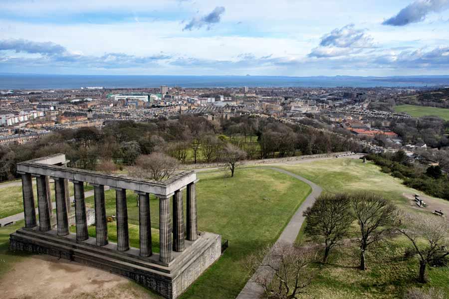 Edinburgh's Folly view leith bass rock